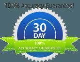 100% Accuracy Guarantee